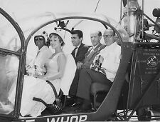 Photo originale Christine Carrère hélicoptère Allouette II