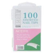 The Edge ACTIVE Natural Half Well Nail Tips Box of 100 Assorted Nails Tips