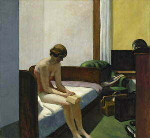 Edward Hopper Hotel Room Poster Reproduction Paintings Giclee Canvas Print