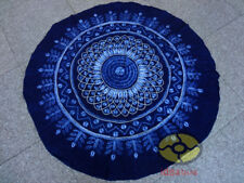 Handmade Indigo Tie Dye Rural Style Tablecloth Table Cover Tapestry ROUND φ 59""