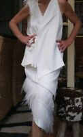 "Sass & Bide Feather ""FRINGE FACTOR"" Top size 40/10-12 rrp $455"