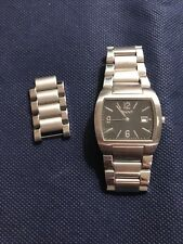 DKNY Unisex Watch Silver Tone Square Face needs battery