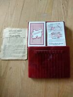 Livingston Pink Canasta Double Deck Cards. Red Bakelite Case USA