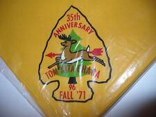 OA 96 Tom Kita Chara,35th Ann Lodge Neckerchief,1936-1971,FAL,Samoset,Tesomas,WI
