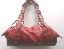DKNY RED LEATHER SATCHEL EXCELLENT