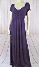 Soprano Dress 2X Purple Rayon Spandex Thin Stretch Knit Pullover Cap Sleeves New