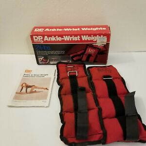 2 Vintage DP Ankle Wrist Weights 2.5 lb Each With Straps Buckles Workout DP