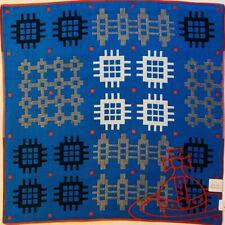 Vivienne Westwood Handkerchief/Scarf - 39.5cm - Orb Cubes Blue - Reversible