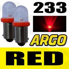 2x 233 LED ROJO TRASERO BOMBILLAS BA9S TW4 PIAGGIO-VESPA CIAO 25PX (m7e3t)