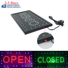 2 in1 Bright Animated Motion Running Neon LED Business Store Shop OPEN Sign Club