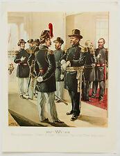 General Officers H A Ogden Vintage Historical Military Uniforms in America Print