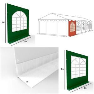 Seitenteil Ersatz Seitenwand 2x2m PVC für Partyzelt Pavillon mit Fenster grün