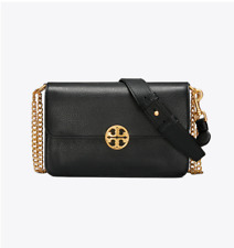 Pre Order Authentic TORY BURCH CHELSEA CROSS-BODY CHAIN SHOULDER BAG - Black