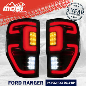 MOBI Smoked LED Tail lights For Ford Ranger PX MK2 Wildtrak T6 T7 T8 2011-ON