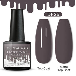 Meet Across Spring UV Gel Nail Polish Soak Off Manicure Dark Nude Gel 6ml DIY