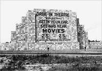 Vintage Drive-In Movie Theater PHOTO 1st DRIVE IN Camden NJ 1933 Screen Sign