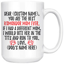 Personalized Komondor Mom Gifts, Komondor Mommy Mug, Komondor Owner Women Gifts