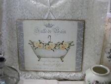 Shabby Chic French Bathroom Sign Salle De Bain