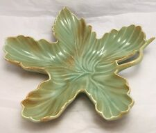 Red Wing Pottery, USA, leaf shaped Two Tones  candy dish #668