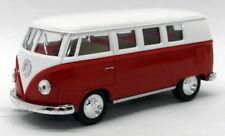 1962 VW Camper - Red - Kinsmart Pull Back & Go Metal Model Car