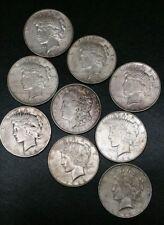 Morgan Peace Silver Dollar Lot Of Nine Coins 1 Morgan 8 Peace 1921 1922 1923