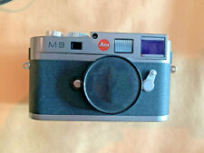 Leica M9 Steel grey body with replaced sensor, charger and batteries