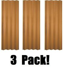 "(3) ea LTL Home VS3280KL 32-36"" x 80"" Oak Finish Folding Accordion Vinyl Doors"