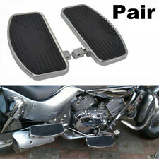 Pair Motorcycle Front Foot Boards Floorboards Side Pedals L & R For Honda Yamaha