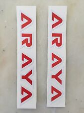 Old School Bmx Araya Rim Wheel Decal Sticker Red Era Correct