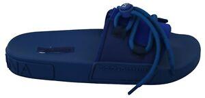 DOLCE & GABBANA Shoes Sandals Blue Lace Slides Beach Flats EU39 / US8.5 $400