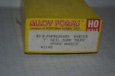 Alloy Forms 3145 Diamond Reo w/7' Heil Dump Body Ho Scale Metal Kit