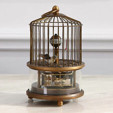 Superb Old China  brass birdcage Mechanical Table Clock RN