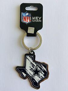 NFL DALLAS COWBOYS FOOTBALL KEY CHAIN TEXAS STATE SHAPED RING SUPER BOWL CHAMPS