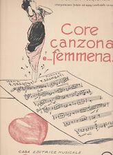 Spartito CORE CANZONA E... FEMMENA a Gennaro Pasquariello - Casa ed. R. NOBILE