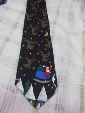 Vintage Save The Children Neck Tie Hand Drawn Laura Age 8 Red Rover 100% Silk