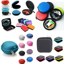 Zip Carrying Storage Bag Pouch Hard Case For Earphone Headphone Earbud USB Cable