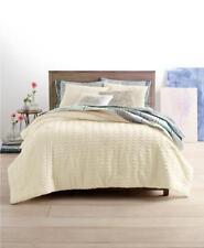 Martha Stewart Whim Chevron Chenille Full Queen Comforter Set Solid Ivory Anthro