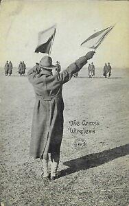 Vintage WWI Postcard, The Army's Wireless