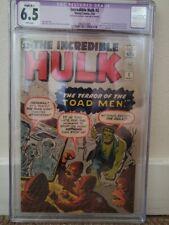 Incredible Hulk # 2 CGC 6.5 (Restoration) 1st Green Hulk and Toad Men 1962