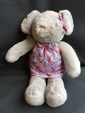 Tesco F&f Grey Mouse Teddy Pink Floral Dress Baby Soft Hug Toy Comforter
