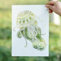 Jellyfish Stencil Template for Painting A3 A2 Mandala Stencils for Wall Reusable