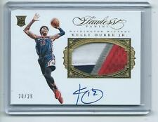 2015-16 Flawless Bkb #PA-KO Kelly Oubre Jr. Wizards GOLD AUTO PATCH RC #/25!!!