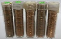 Five Coin Rolls 1973 Lincoln Memorial Penny Cents - Uncirculated Pennies - JR838