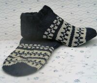 Russian Women's Wool Socks Slippers Hand Knitted  Handmade #31