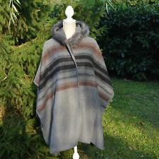 Veste Poncho Grande Taille 48 50 52 54 56 58 Fourrure gris Antigua ZAZA2CATS