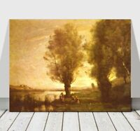 """CAMILLE COROT - Sunset - CANVAS ART PRINT POSTER - 16x12"""""""