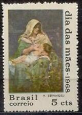 BRAZIL - 1968 - Art Painting - Mother's Day - MNH Stamp - Sc. #1083