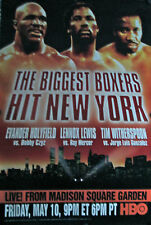 THE BIGGEST BOXERS HIT NY 1996 HBO POSTER HOLYFIELD VS CZYZ-LEWIS VS MERCER