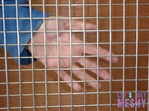 """Stainless Steel 304 Welded Wire Mesh 1"""" x 1"""" square 2.5mm wire 8' x 4' sheets"""