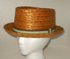 Vintage Straw Fedora Hat Rare Unique Weave Made in Italy Size 7  1/4